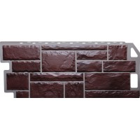 Фасадные панели Fineber - Камень Коричневый