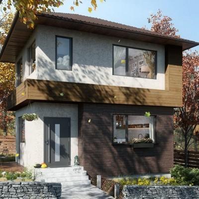 Фасадные панели VOX, Solid Sandstone - Dark Brown